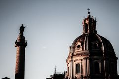 Monuments of the city of Rome. stock photography