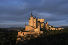 Monuments of the city of Segovia, the Real Alcazar, Spain Stock Image