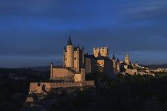 Monuments of the city of Segovia, the Real Alcazar, Spain Stock Photos