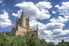 Monuments of the city of Segovia, the Real Alcazar, Spain Royalty Free Stock Images