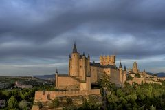 Monuments of the city of Segovia, the Real Alcazar, Spain royalty free stock image