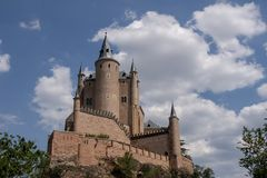 Monuments of the city of Segovia, the Real Alcazar, Spain stock images