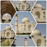 MONUMENTS COLLAGE IN AGRA Royalty Free Stock Photography