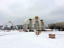 Monuments dans la neige Photographie stock libre de droits