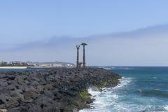 Monuments de Lanzarote Images libres de droits