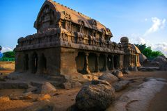 Monuments de Mamallapuram images libres de droits