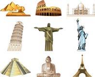 Monuments de renommée mondiale Images stock