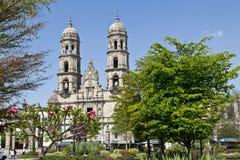 Monuments de touristes de la ville de Guadalajara Image libre de droits