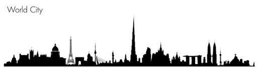 Monuments du monde de vecteur illustration stock