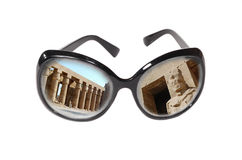 Monuments of Egypt in dark glasses Stock Photos