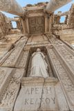 Monuments of Ephesus old greek city in turkey. Ephesus was an ancient Greek city on the coast of Ionia, three kilometres southwest of present-day  stock photo