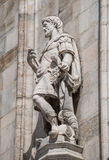 Monuments at facade of the Cathedral of Milano, Duomo di Milano, Royalty Free Stock Images
