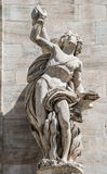 Monuments at facade of the Cathedral of Milano, Duomo di Milano, Stock Photos