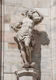 Monuments at facade of the Cathedral of Milano, Duomo di Milano, Royalty Free Stock Photography