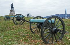 Gettysburg Battlfield in Pennsylvania, United States royalty free stock photos