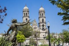 Monuments of Guadalajara,. Jalisco, Mexico. Basilica de Zapopan royalty free stock photo