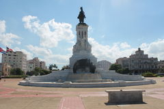 Monuments Havana. Architecture monumental equestrian statue located in one of the many squares of Havana where the Cuban capital is visited each year by millions stock photos