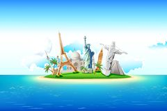 Monuments on Island Royalty Free Stock Images