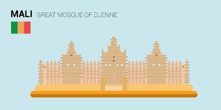 Monuments and landmarks Vector Collection: Great Mosque of Djenne. royalty free illustration