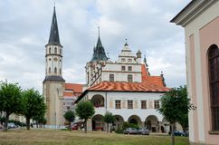 Monuments in Levoca, Slovakia. Stock Image