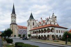 Monuments in Levoca, Slovakia. Stock Photo