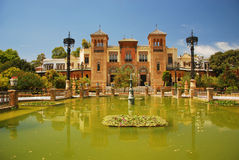Monuments, Museum in Seville, Spain. Mudejar Museum of Popular Arts and Custom of Seville, Spain (Botanic garden, park Maria Luisa) Andalusia Royalty Free Stock Images
