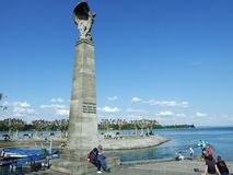 Monuments near Lake Bodensee in the city of Konstanz. Federal Republic of Germany stock photography