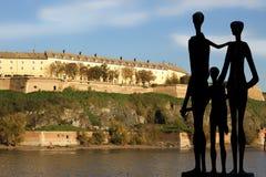 Monuments in Novi Sad Stock Image