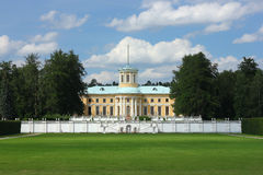 The monuments and palace. In the Park of the Museum Arkhangelskoe Royalty Free Stock Photos