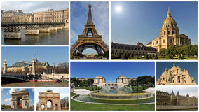Monuments of Paris royalty free stock photography