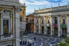 Capitol hill in Rome royalty free stock photos