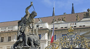 Monuments of prague. Old monuments in prague in czech republic Stock Image