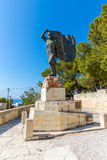 Monuments and sculptures Greece, Chania, Crete.Traditional pictorial street Royalty Free Stock Image