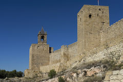 Monuments in Spain the citadel of Antequera in Malaga. View of the old Arab citadel of the city of Antequera in the province of Malaga Royalty Free Stock Images