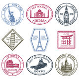 Monuments Stamps Set Royalty Free Stock Photography