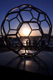 Monuments of Turkish football Ideal. Turkish soccer ideal for monuments in Uskudar istanbul, sunset view Stock Photo