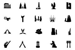 Monuments Vector Icons 5 Stock Image