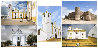 Monuments in Veiros town, Estremoz, Portugal Stock Photos
