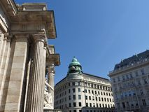 Monuments of Vienna, Austria, a clear Sunny day.  stock photo