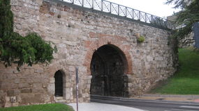Monuments: Walls of Burgos, Spain. Royalty Free Stock Photo