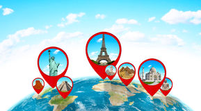 Monuments of the world on planet Earth Stock Image