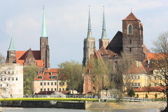 Monuments in Wroclaw, Poland stock images