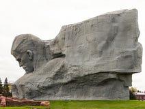 Monumentskulptur Brest-Festungsgesicht Brests Minsk von a Lizenzfreies Stockbild