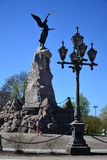 Monumentslagskeppsjöjungfru i Tallinn royaltyfria foton