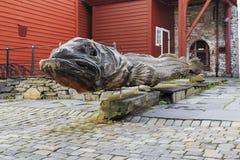 Monumenttorsk i Bergen Royaltyfria Foton