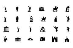 Monumentvektorsymboler 2 vektor illustrationer