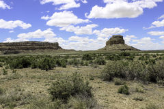 Monumnet at Chaco Canyon Stock Image
