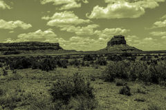 Monumnet at Chaco Canyon Stock Photo