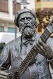 Monumnt à Jose Maria Iparragirre, guitariste dans Gernika Espagne Photos libres de droits