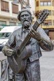 Monumnt à Jose Maria Iparragirre, guitariste dans Gernika Espagne Image libre de droits